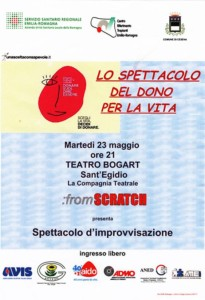 Cesena: Lo spettacolo del dono per la vita @ Teatro Bogart - Sant' Egidio