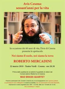 Cesena: Spettacolo con Roberto Mercadini @ Teatro Verdi Cesena