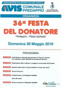 Predappio: 36° Festa del Donatore @ Piazza Garibaldi