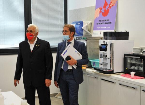 Il presidente Briola con Giancarlo Savini