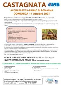 Programma Castagnata 17 ottobre