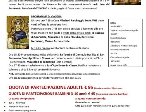 Gita alla scoperta di Ravenna e dei suoi tesori LUNEDÌ 1 NOVEMBRE